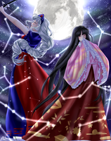 Beings of The Imperishable Moon *SPEEDPAINT BELOW* by prismpower