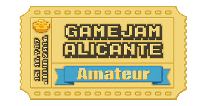 Gamejam Alicante Virtual Ticket II by Toomanypenguins
