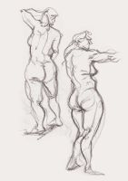 Figure Drawing by Noumier