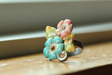 Spring Floral Ring by Starsania