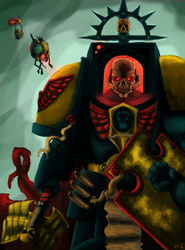 Imperial Fists Chaplain Kronah - colored. by PlayCeboVision