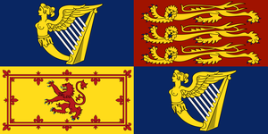 Royal Standard of the UK for use in Ireland by CastleGreifenghast