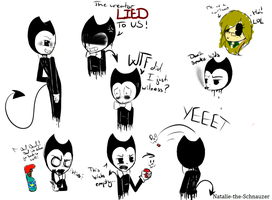 Bendy doodles by Natalie-Sophie