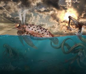 Another Day on the Steampunk Ocean by Dessins-Fantastiques