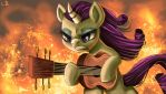 Through the fire and the flames by Trojan-Pony