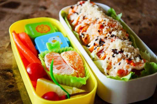 Dragon Roll Bento by Demi-Plum