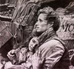Pencil portrait of scene fr Les Miserables by chaseroflight
