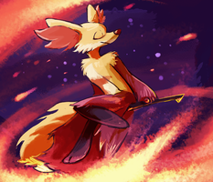 [XY SPOILERS] Fire witch by monstercoach
