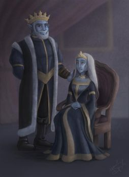 King Alec and Queen Jenell of Ceraphane by hannahgrace-art