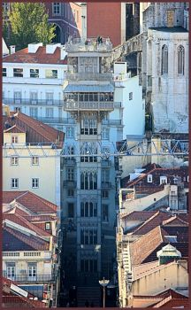 Santa Justa Lift, Lisbon, Portugal by Tigles1Artistry