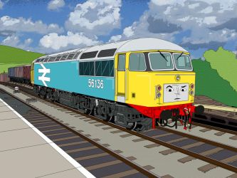 A class 56 goes to Sodor (TVS style) by Edelroark