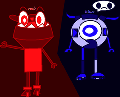 Red And Blue As Mixels by 4br1l
