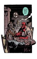 Hellboy in good company... by dio-03