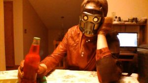 Star-Lord Drinking Soda Pop by unusedusername111
