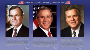 Inspirational Bush Quotations by Chronorin