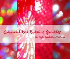 Coloured Red Bokeh + Sparkles by powerpuffjazz