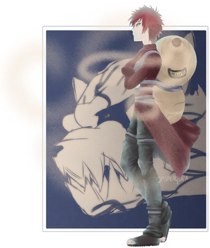gaara of the sand by jasperoura