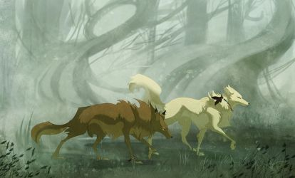 Stalking in the Fog by Drayok
