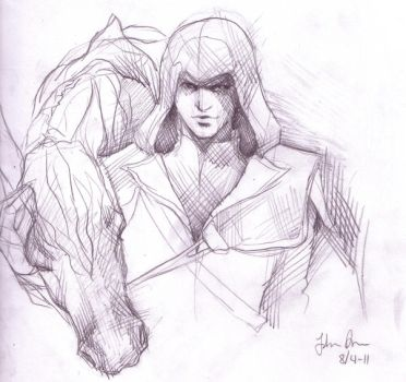 Ezio Auditore sketch by Cazandra
