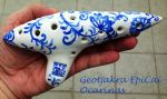 Meissen Inspired Ocarina by Geotjakra