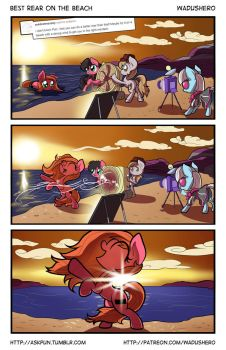 Ask Pun - Best Rear on the Beach by Wadusher0