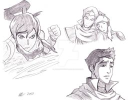 Korra x Mako by meg15warrior