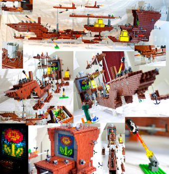 The Fireflower - Mighty LEGO Super Mario 3 airship by VonBrunk