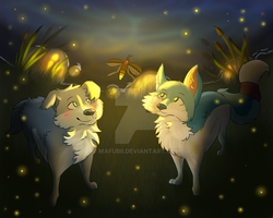 ..:Fireflies:.. [Collab with SweetElectricity] by Mafubii