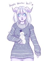 Winter Veil Sweater by Ninami