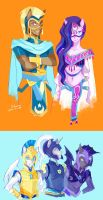 Saddle Arabians and Guards by s0901