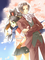 miles edgeworth 2 : blossoms by Blizz-Mii