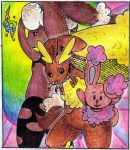 Buneary and Lopunny by Antaie