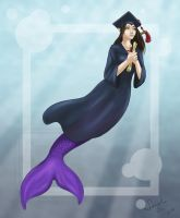 Graduation Mermaid .: Commission :. by Janexas