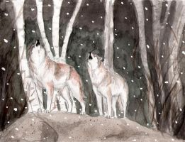 Howling Wolves by WolfSoldier87