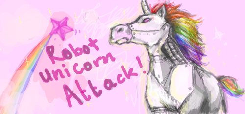 Robot Unicorn Attack by chocolateapollo115