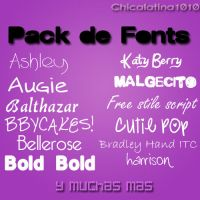 Fonts Pack by Chicalatina1010