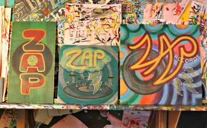 Zap Records (paint sketches - unfinished) by Go-Baby-Go