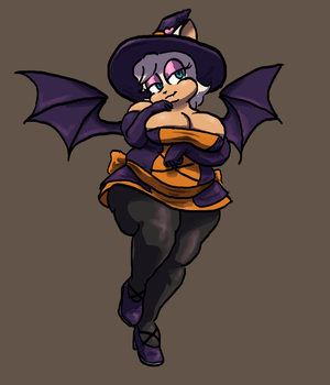 Batface The Witch by MaxTheBerzerker