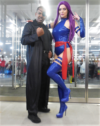 Nick Fury and Psylocke by R-Legend