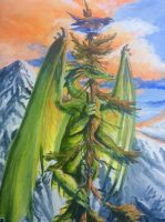 Detail of pine dragon by Hbruton