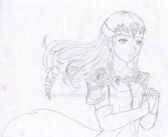 Zelda sketch by Malu-CLBS