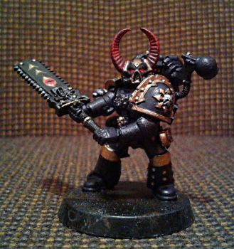 Black legion space marine with chain-claymore by Naarok0fKor