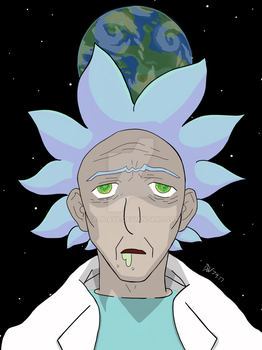 Rick Sanchez Anime Style! by CaliDave