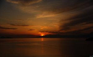 sunset in matala by iytj