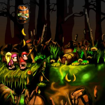 Donkey Kong Country 2 by RosegardenInHell
