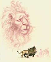 Cowardly Lion by TheHermitage