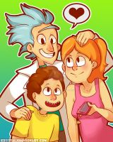 Family Portrait by Krystal-Johnson-Art