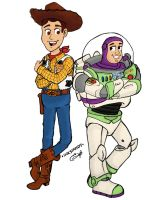 Toy Story Woody and Buzz FanArt by Inkstandy