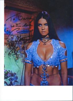 Actress Caroline Munro's Autograph 2 by wemayberry