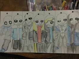 AU Sans Bookmark by Kiri~ by OtakuAhruGal